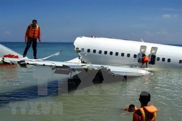 Se estrella avion con 188 pasajeros en Indonesia hinh anh 1