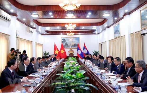 Impulsan cooperacion entre Comisiones partidistas de Control Disciplinario de Vietnam y Laos hinh anh 1