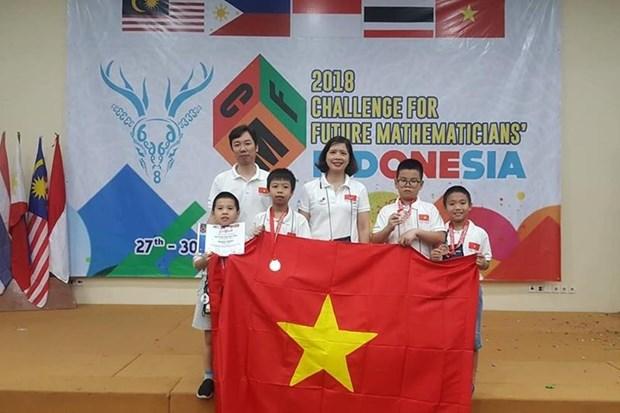 Vietnam triunfa en competencia de matematica en Indonesia hinh anh 1