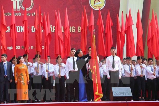 Presidenta de Parlamento asiste a aniversario 110 de escuela Chu Van An hinh anh 1