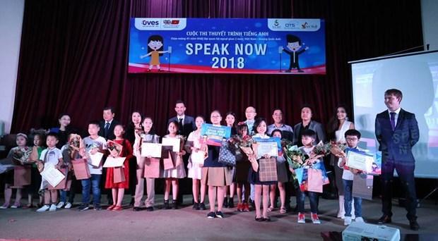 Concluyen en Hanoi concurso de oratoria en ingles hinh anh 1
