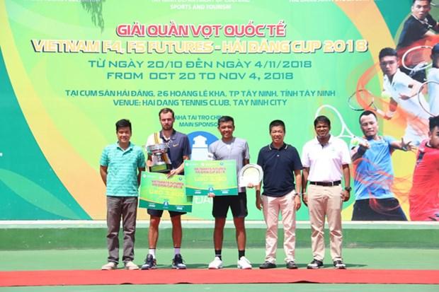 Raquistista ruso se proclamo campeon de torneo internacional de tenis en Vietnam hinh anh 1