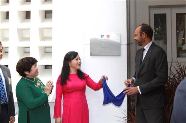 Premier Edouard Philippe inaugura Clinico Frances en Ciudad Ho Chi Minh hinh anh 1