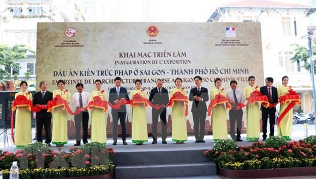 Inauguran en Ciudad Ho Chi Minh exposicion sobre arquitectura francesa hinh anh 1