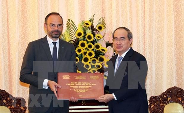 Ciudad Ho Chi Minh desea intensificar cooperacion con localidades francesas hinh anh 1
