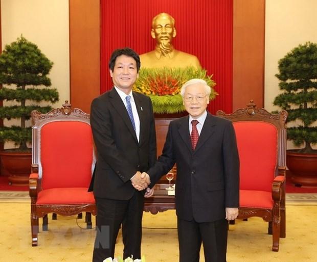 Vietnam atesora lazos con Japon, afirma su maximo dirigente hinh anh 1