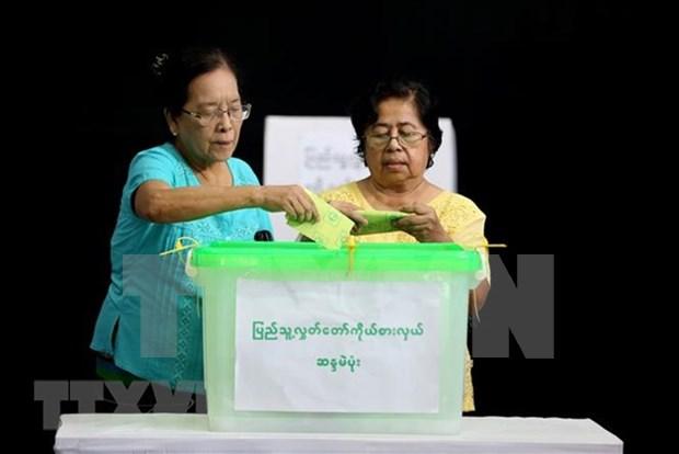 Partido gobernante de Myanmar gana elecciones parciales hinh anh 1