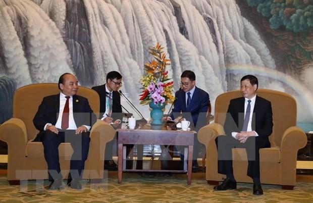 Premier de Vietnam recibe al Mayor de Shanghai hinh anh 1