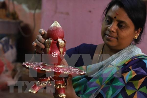 Celebran en Ciudad Ho Chi Minh festival hindu de las luces Diwali hinh anh 1