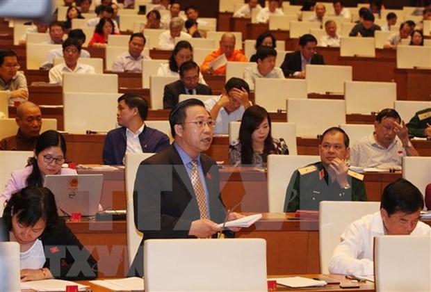 Parlamento de Vietnam analiza dos importantes borradores legales hinh anh 1