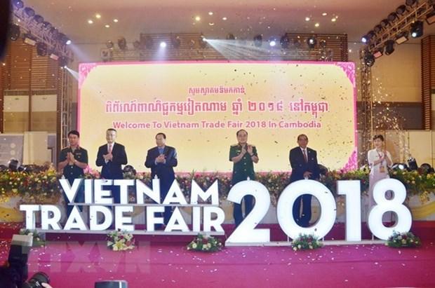 Inauguran Feria Comercial de Vietnam 2018 en Camboya hinh anh 1