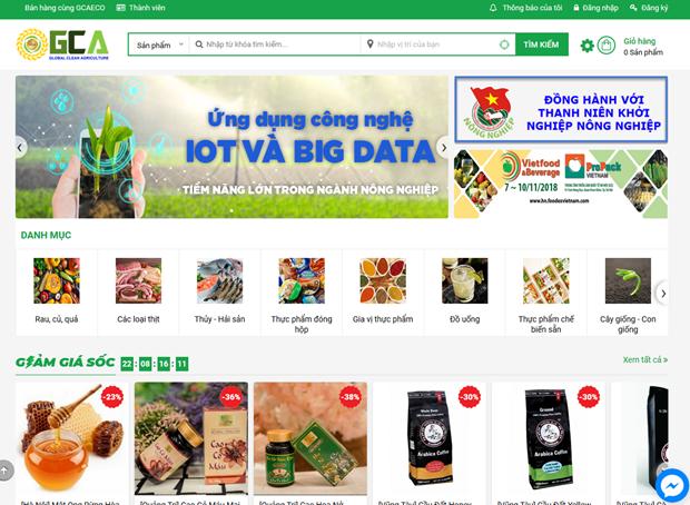 Debuta mercado electronico de productos agricolas limpios en Vietnam hinh anh 1