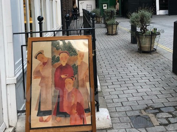 Publico de Londres impresionado ante cuadros de famosos pintores vietnamitas hinh anh 1