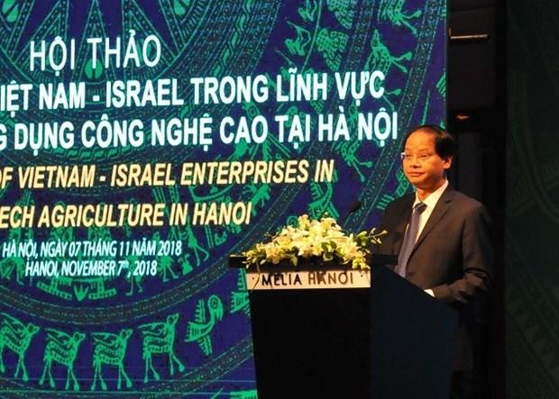 Hanoi desea fomentar la cooperacion con Israel en la agricultura de alta tecnologia hinh anh 1