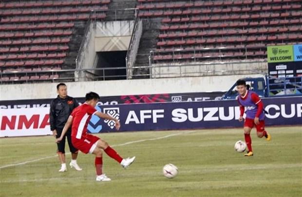 Vietnam listo para el primer partido contra Laos en Copa AFF Suzuki Cup hinh anh 1
