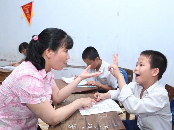 Alumnos vietnamitas compiten en concurso global de TI para jovenes con discapacidades hinh anh 1