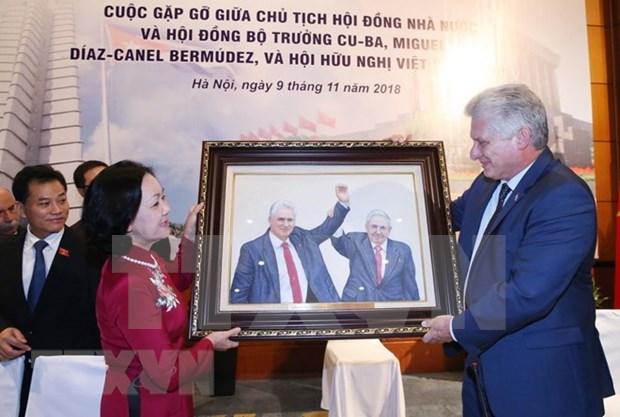 Presidente Diaz-Canel confia en durabilidad de solidaridad Vietnam-Cuba hinh anh 1
