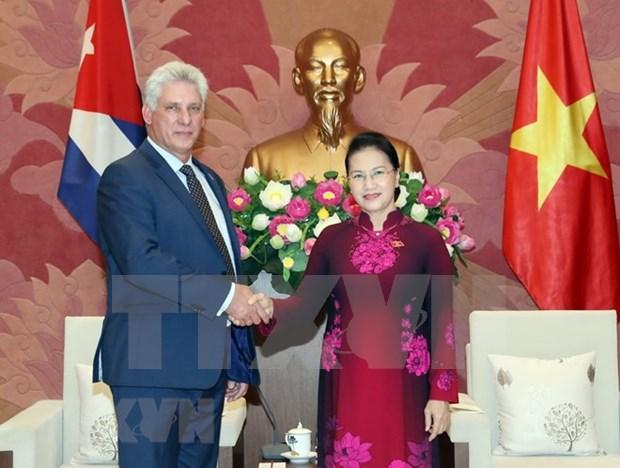 Parlamento de Vietnam reitera apoyo a la justa causa revolucionaria de Cuba hinh anh 1