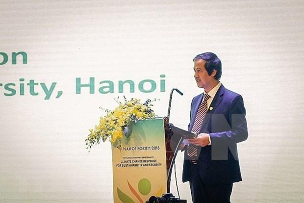 Debaten en Vietnam soluciones al cambio climatico hacia un desarrollo sostenible hinh anh 1