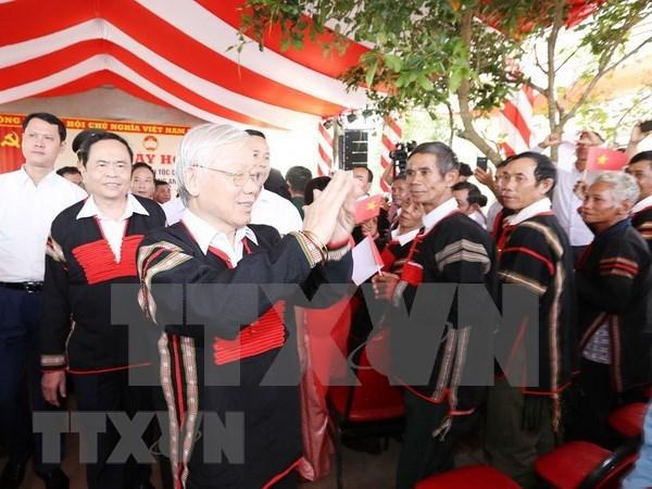 Maximo dirigente de Vietnam reitera necesidad de consolidar la gran unidad nacional hinh anh 1