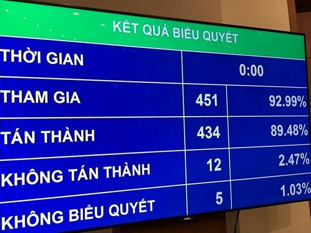 Parlamento de Vietnam aprueba resolucion de plan de inversion publica hinh anh 1