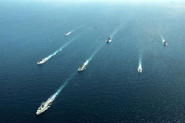 Armadas de la India y Singapur efectuan ejercicio militar a gran escala hinh anh 1