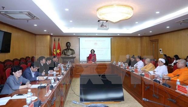 Ley de Creencia y Religion de Vietnam responde a demanda de culto religioso hinh anh 1