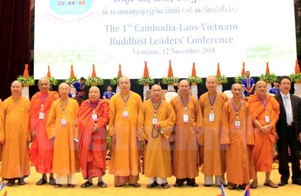 Celebran primera conferencia de lideres budistas Vietnam-Laos-Camboya hinh anh 1