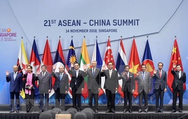Premier vietnamita resalta papel de asociacion estrategica ASEAN- China para la paz hinh anh 1