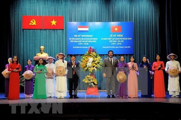 Conmemoran aniversario 45 de nexos diplomaticos Vietnam-Paises Bajos hinh anh 1