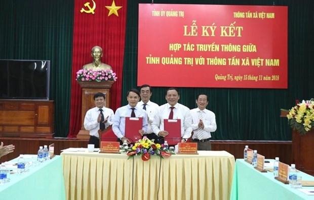 VNA y provincia centrovietnamita firman acuerdo de cooperacion en comunicacion hinh anh 1