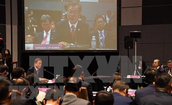 Corea del Sur insta a respaldo de ASEAN a esfuerzos de paz en Peninsula coreana hinh anh 1