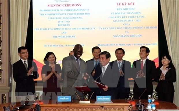 Ciudad Ho Chi Minh y Banco Mundial firman memorando de asociacion integral hinh anh 1
