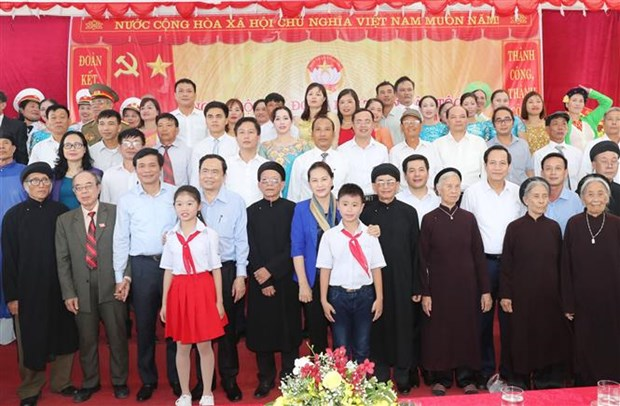 Presidenta del Parlamento de Vietnam insta a acelerar movimientos de emulacion patriotica hinh anh 1
