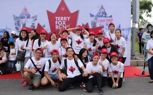 Mas de 24 mil vietnamitas participan en carrera caritativa Terry Fox hinh anh 1