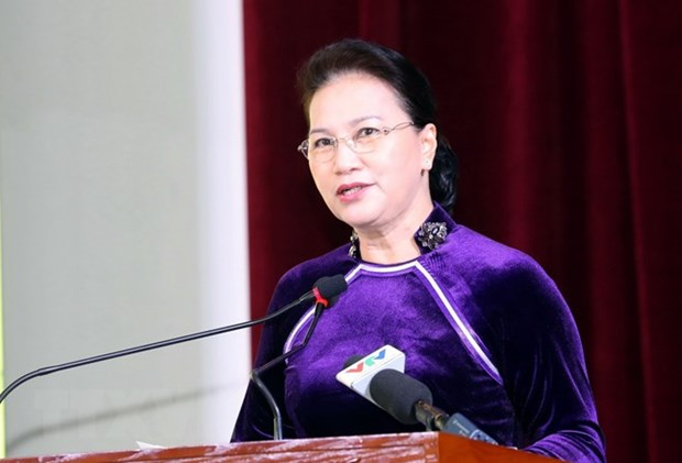Presidenta del Parlamento asiste a aniversario 55 de fundacion de Academia de Finanzas hinh anh 1