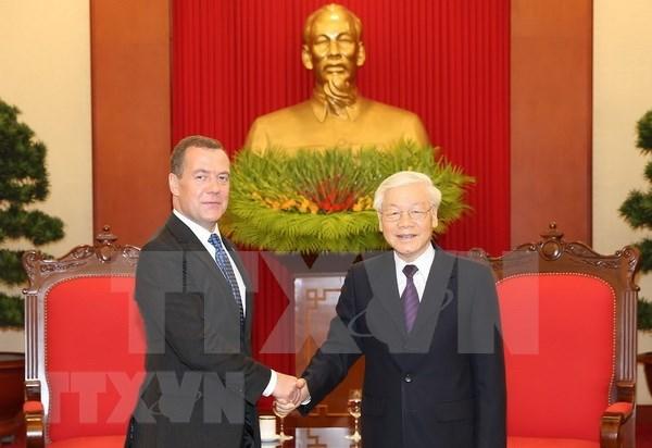 Rusia es socio confiable y de primera categoria de Vietnam, destaca maximo dirigente hinh anh 1