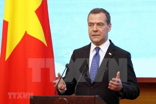 Primer ministro de Rusia concluye visita oficial a Vietnam hinh anh 1