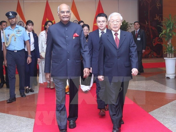 Presidente de la India concluye visita estatal a Vietnam hinh anh 1