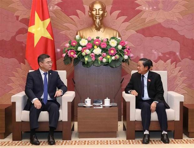 Vicepresidente del Parlamento de Vietnam recibe a secretario del Partido Nur Otan de Kazajistan hinh anh 1
