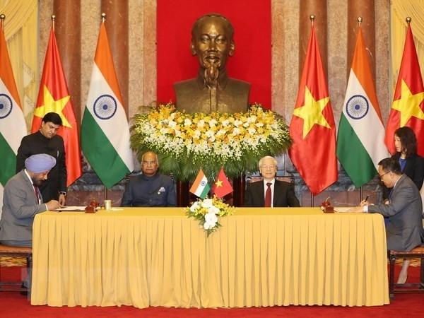 Vietnam y la India emiten declaracion conjunta hinh anh 1