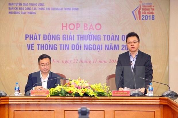 Lanzan convocatoria del Premio Nacional de Informacion para el Exterior 2018 de Vietnam hinh anh 1
