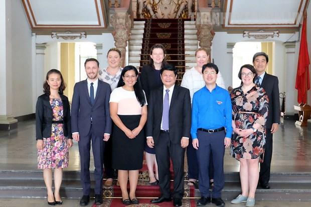 Ciudad Ho Chi Minh desea intensificar relaciones con Australia hinh anh 1