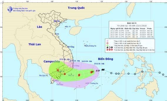 Tifon Usagi se dirige a la region surena del Centro de Vietnam hinh anh 1