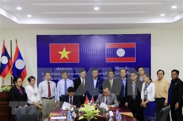 Agencia Vietnamita de Noticias amplia respaldo tecnico a su similar laosiana hinh anh 1
