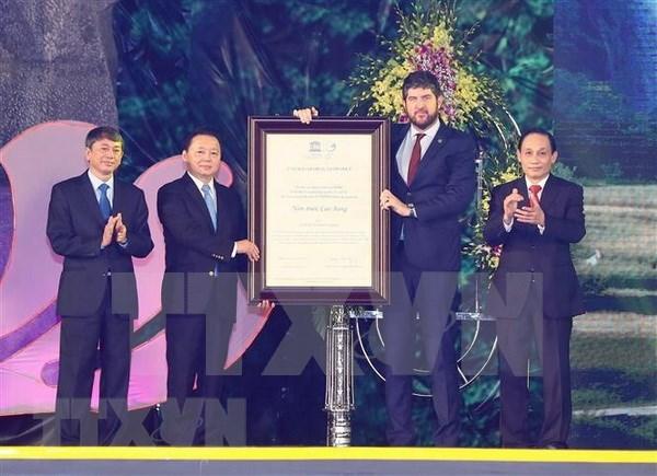 Geoparque vietnamita Non Nuoc Cao Bang recibe titulo de la Unesco hinh anh 1