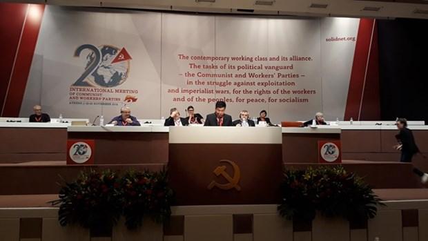 Vietnam participa activamente en XX Encuentro Internacional de Partidos Comunistas y Obreros hinh anh 1