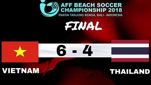 Vietnam se corona en el campeonato sudesteasiatico de futbol playa hinh anh 1