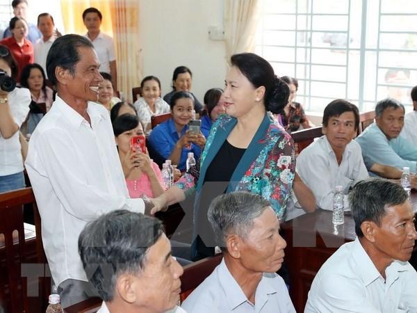 Presidenta del Parlamento de Vietnam llama a la poblacion a opinar sobre Ley de Cooperativas hinh anh 1