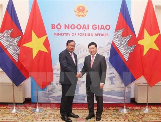 Vietnam y Camboya ratifican compromiso con fortalecimiento de relaciones bilaterales hinh anh 1